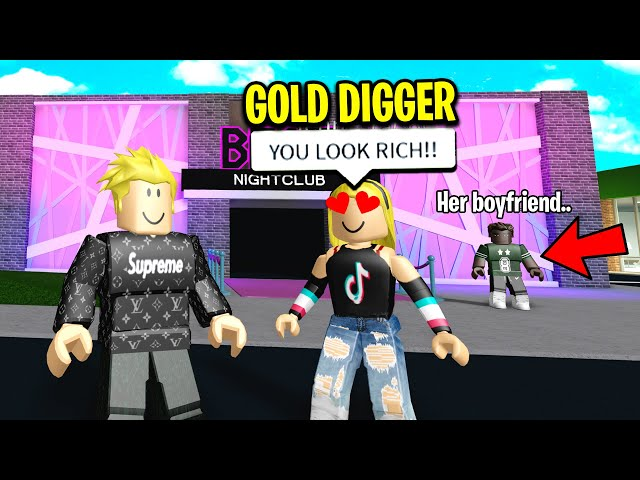 GOLD DIGGER Cheated On BOYFRIEND For A MANSION.. (Roblox)