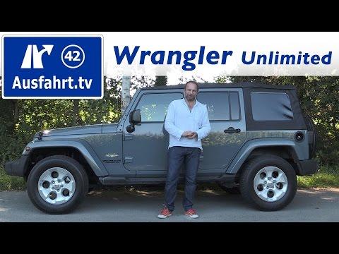2016 Jeep Wrangler Unlimited 2.8 Multijet   Fahrbericht der Probefahrt  Test   Review