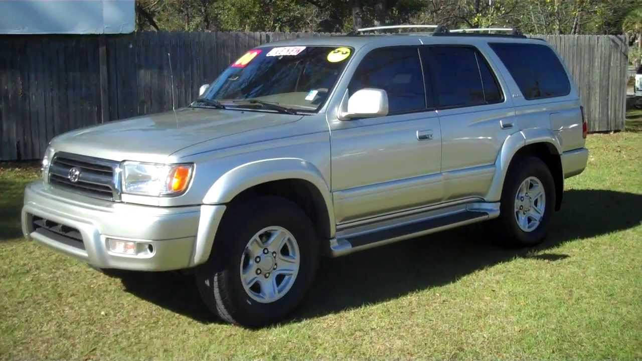 2000 toyota 4 runner 4runner limited for sale leisrue used cars 850 265 9178 youtube