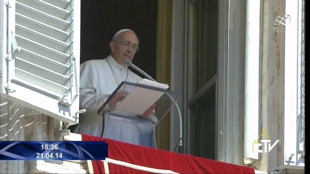 Papa francesco augura buona pasqua dalla finestra del - Finestra del papa ...