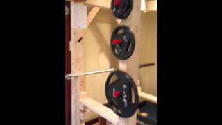 Homemade Wood Power Rack- Simple And Easy