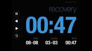 Online Tabata Timer 18 Minutes (Black Theme)