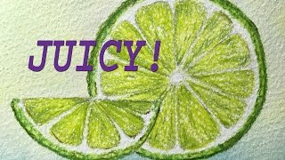 How to Draw and Color a Juicy Citrus: Lime