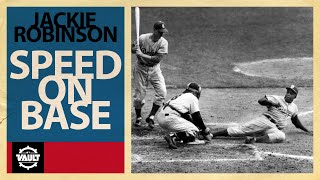Jackie Robinson could FLY! Check out some of his best moments on the base paths!