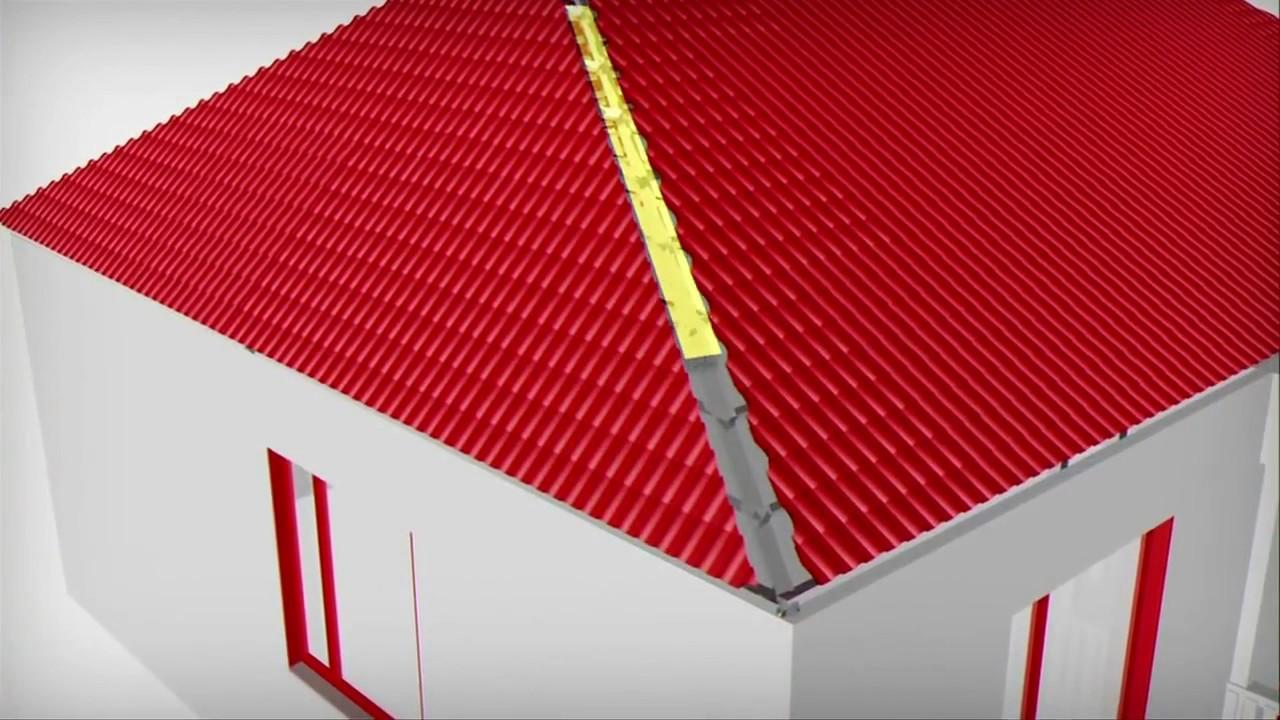 Techo a cuatro aguas youtube for Casas techos cuatro aguas