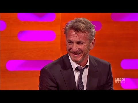 Does Sean Penn ever smile? The Graham Norton  on BBC America.