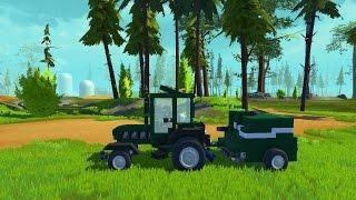 SCRAP MECHANIC- Tractor - Traktor - Ciągnik rolniczy i PRASA/PRESS - część/part 2