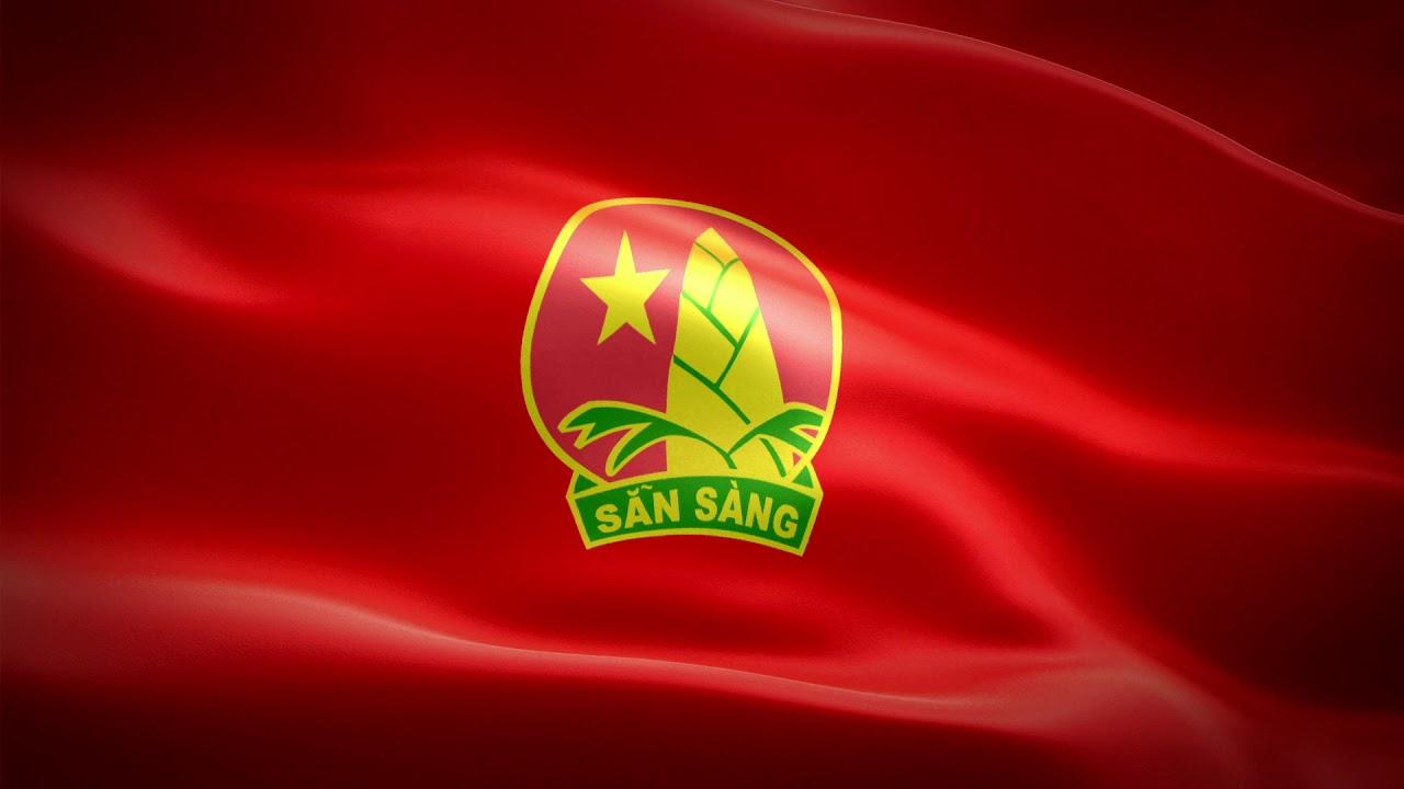 [Thái Triển] Cờ Đội TNTP Hồ Chí Minh tung bay