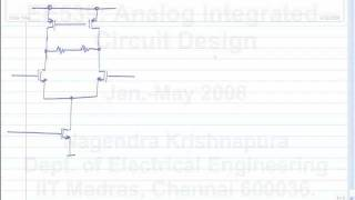 lecture 51 Fully differential opamps, common mode feedback, CMFB loop stability