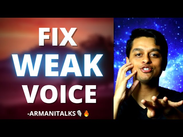Voice too Soft? How to Fix Weak Voice for the Long Term