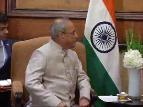 26 May, 2016 -Indian President arrives in Beijing, meets Chinese vice president