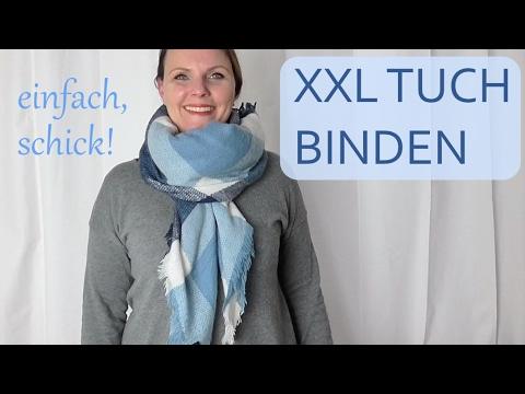 xxl tuch binden 9 einfache arten youtube. Black Bedroom Furniture Sets. Home Design Ideas