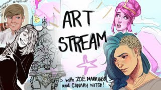 ART STREAM with CANARY WITCH and ZOË MARRINER