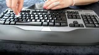 ASMR - Cleaning G15 Keyboard - Gentle rubbing sounds - (No talking)