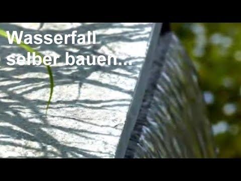Wasserfall selber bauen  Video Wasserflle fr Garten Teich und Gartenteich aus Edelstahl