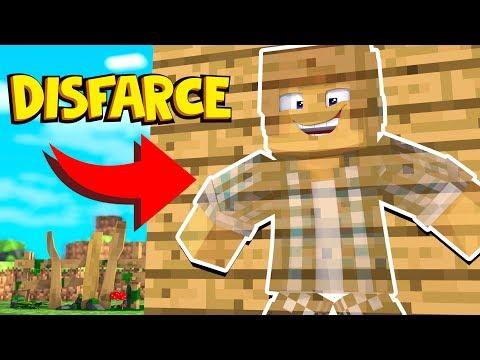 Minecraft: ESCONDE-ESCONDE COM DISFARCE INVISÍVEL !!