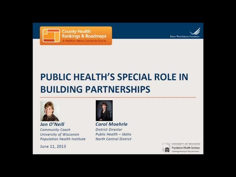 Public Health's Special Role in Building Partnerships