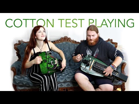 Gurdy Cotton Test PLAYING! w/ song at the end! feat. Johannes Just