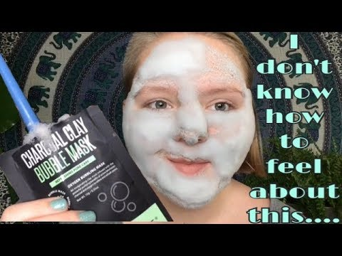 CHARCOAL CLAY BUBBLE MASK FROM WALMART// FIRST IMPRESSION AND REVIEW!
