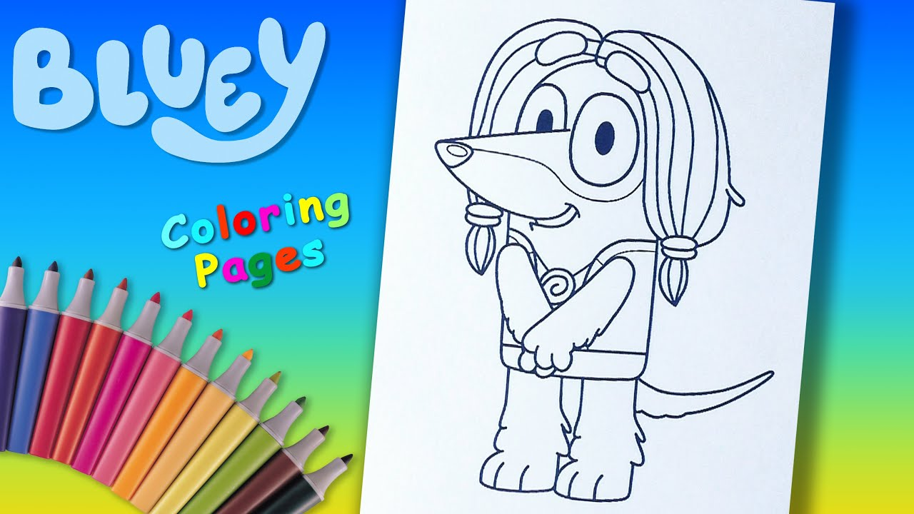 Disney Junior Bluey Coloring Book For Kids Indy Coloring ...