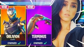 "NEW OBLIVION ""GIRL OMEGA"" SKIN IN FORTNITE BATTLE ROYALE!!!"