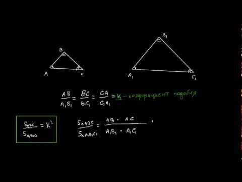 Как относятся площади подобных треугольников