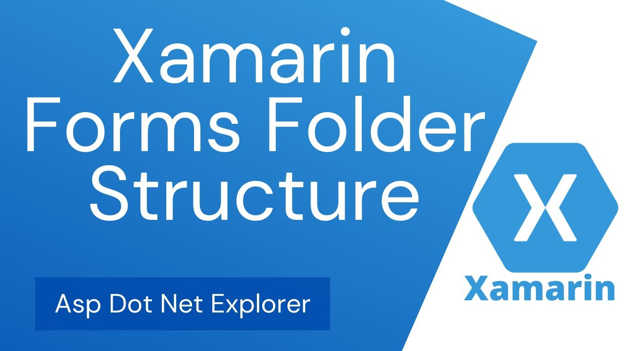 Folder structure of Xamarin Forms App