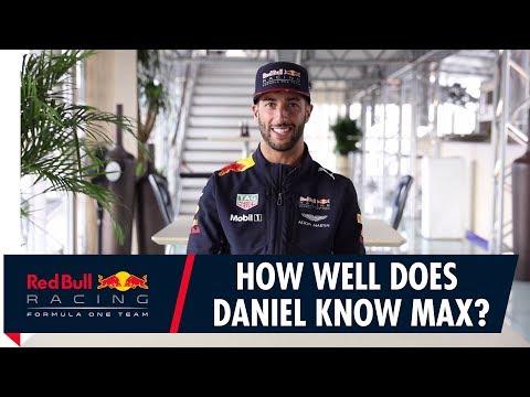 How Well Does Daniel Ricciardo Know Max Verstappen?