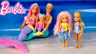 Barbie Doll Mermaid Family Turns into a Real Girl - With LOL Baby Goldie