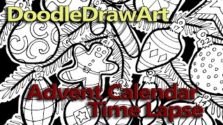 Doodle Coloring Page : Advent Calendar - With Printable Coloring Page!