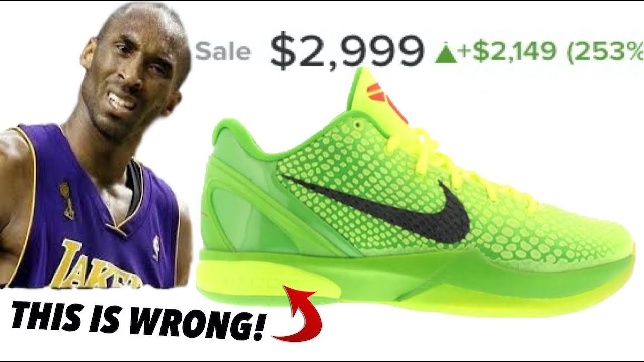 Kobe Sneakers Surge $1000's in Price