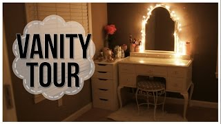My Vanity Tour + Makeup Collection! | Ilikeweylie