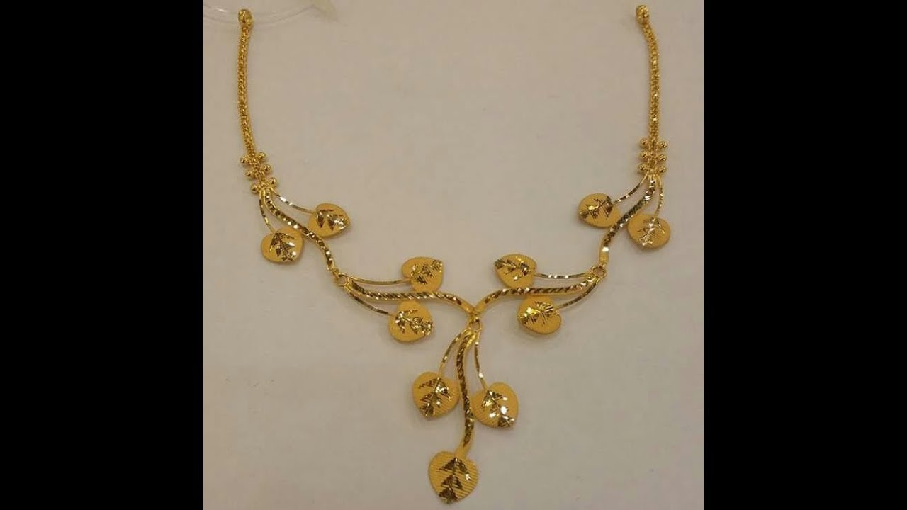 jewellery l golden necklaces floral the necklace trendy gold grt light oriana enameled jewellers leaf weight
