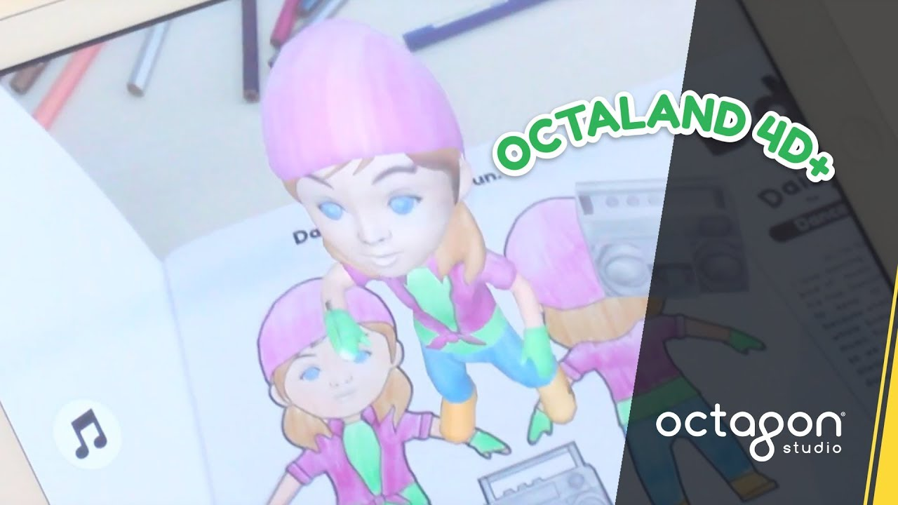 Augmented Reality Colouring Book Octaland 4D Colour Me