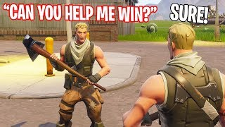 Getting my Default brother his First EVER Fortnite Win...