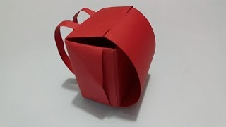 Origami Mochila o Maleta de papel -  Origami Paper Backpack or Suitcase