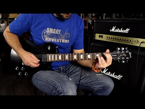 GIBSON LES PAUL TRIBUTE 70's EBONY - Guitar Demo