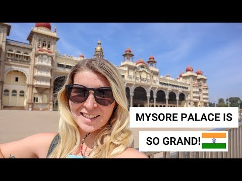 MYSORE PALACE & CHAMUNDI HILL AND TEMPLE! | Mysore Vlog