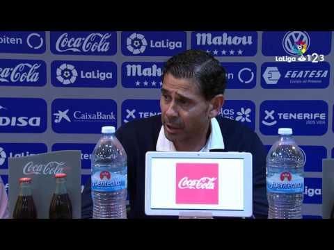 Rueda de prensa de Fernando Hierro tras el CD Tenerife vs Real Oviedo (1-0)