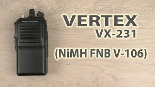 Розпакування VX-231 (400-470 МГц) + АКБ NiMH FNB V-106