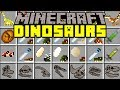 Minecraft MORE DINOSAURS MOD! | GIANT DINOS, NEW MOBS, NEW ITEMS, T-REX, & MORE! | Modded Mini-Game