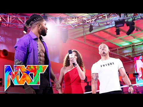 Carmelo Hayes introduces Trick Williams to his corner: WWE NXT, Sept. 14, 2021