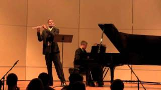 Sonata in D major Mvt 1- Prokofiev    James Miller, flute  Richard Auvil, Piano