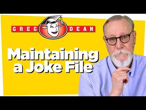 How to Write Jokes Q&A Tips: Maintain a Joke File - Greg Dean