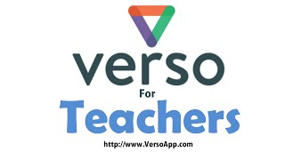 Verso for Teachers - www.VersoApp.com