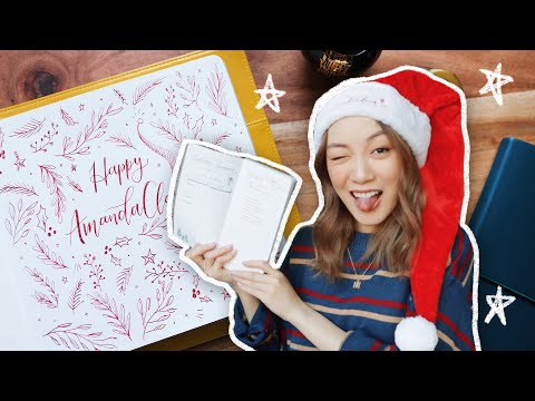 Holiday Journal with Me! (simple doodles & bullet journal spread)