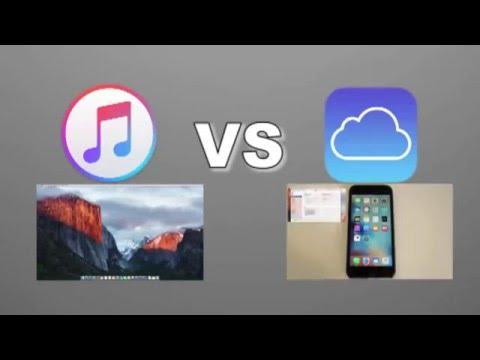 iTunes backup vs iCloud backup