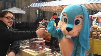 Migros: Lapin Funny dans les rues Zurich