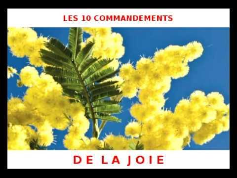 Les 10 commandements de la joie