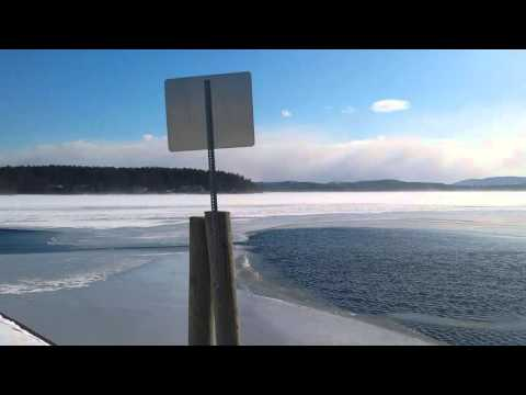 Blizzard on the bay. Alton Bay New Hampshire